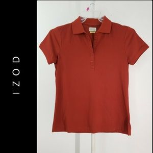 Izod Club Woman Short Sleeve Polo Shirt Blouse